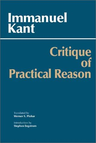 0872206181 - Critique of Practical Reason Hackett Classics ...