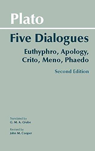 9780872206335: Plato: Five Dialogues: Euthyphro, Apology, Crito, Meno, Phaedo