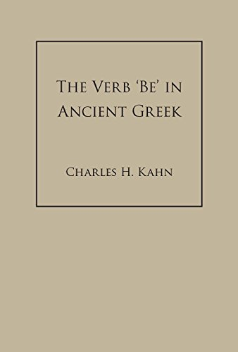 9780872206441: The Verb Be in Ancient Greek
