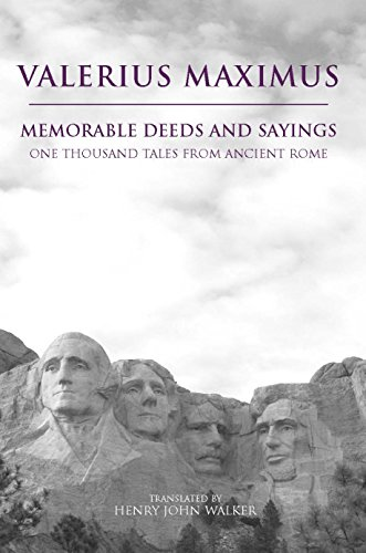 9780872206748: Memorable Deeds and Sayings: A Thousand Tales from Ancient Rome