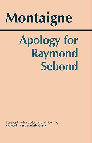 9780872206793: Apology for Raymond Sebond (Hackett Classics)