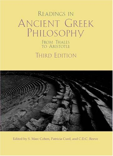 9780872207707: Readings In Ancient Greek Philosophy: From Thales To Aristotle