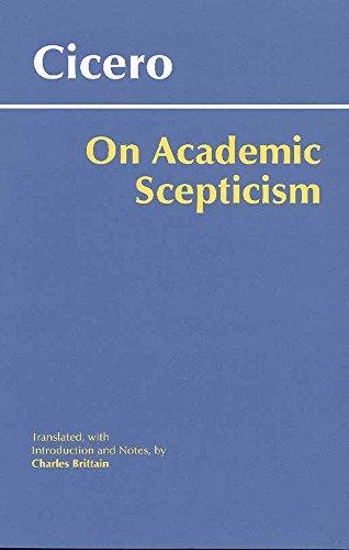 9780872207745: On Academic Scepticism (Hackett Classics)