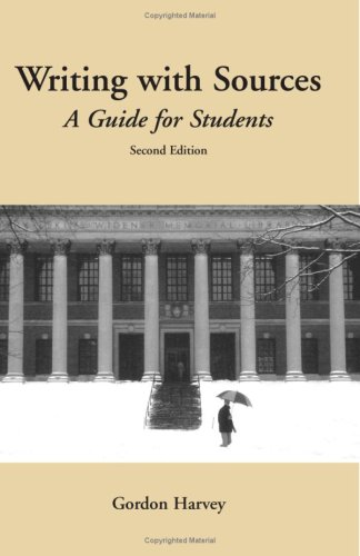 9780872209459: Writing with Sources: A Guide for Students (Hackett Student Handbooks)