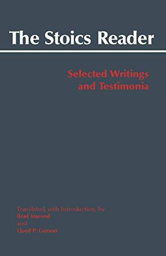 9780872209527: The Stoics Reader: Selected Writings and Testimonia (Hackett Classics)