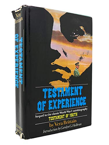 9780872236813: Testament of Experience: An Autobiographical Story of the Years 1925-1950
