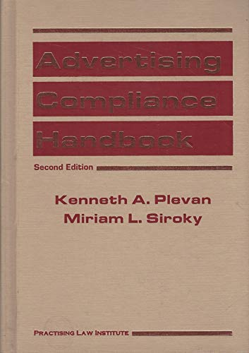 9780872240254: Advertising Compliance Handbook