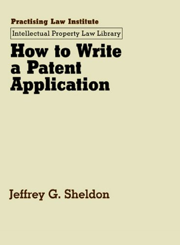 9780872240445: How to Write a Patent Application