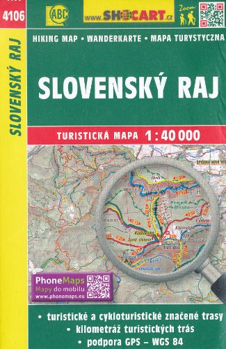 9780872247529: Slovak Paradise (Slovenský Raj) 1:40,000 Hiking Map, GPS-compatible