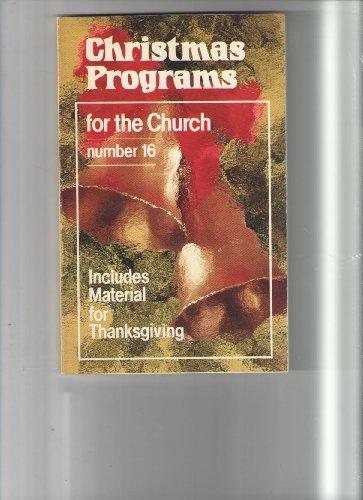 Christmas Programs for the Church No. 16/8616: Sparks, Judy