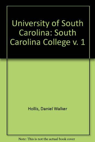 9780872490321: University of South Carolina: South Carolina College v. 1