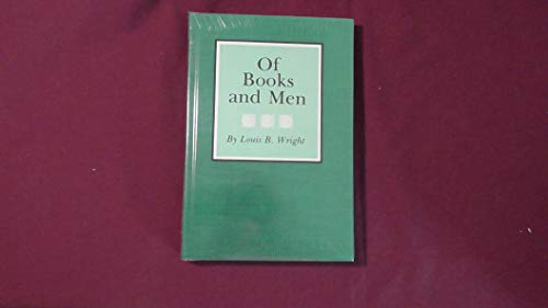 9780872493445: Of Books and Men