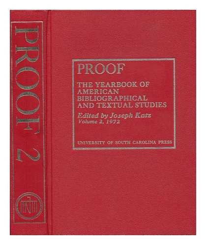 Proof Volume the Yearbook of American Bibl (0872497011) by Joseph Katz