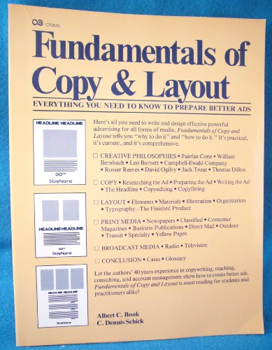 9780872510357: Fundamentals of Copy and Layout: A Manual for Advertising and Copy Layout