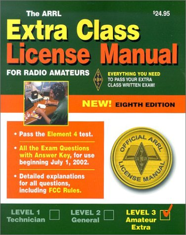 9780872598652: The ARRL Extra Class License Manual for Radio Amateaurs, 8th Edition