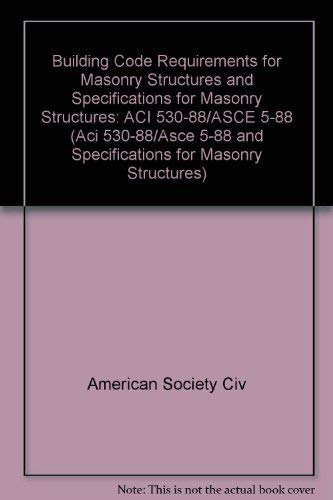 9780872626843: Building Code Requirements for Masonry Structures ...