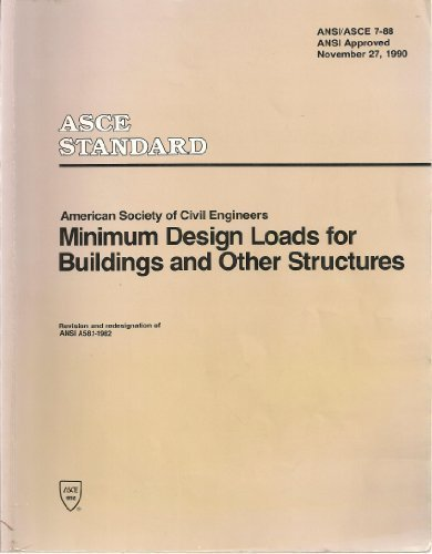 9780872627420: Minimum Design Loads for Buildings and Other Structures/ASCE 7-88