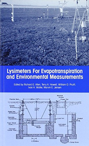 9780872628137: Lysimeters for Evapotranspiration and Environmental Measurements: Proceedings of the International Symposium on Lysimetry Held in Honolulu, Hawaii, July 23-25, 1991