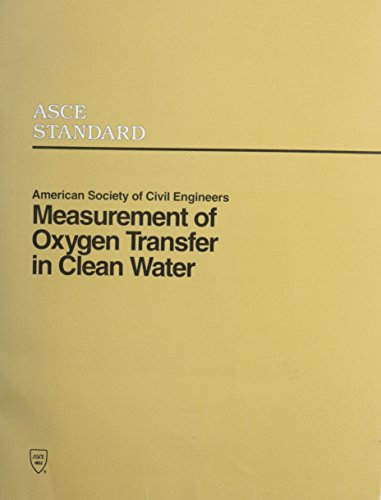 9780872628854: Measurement of Oxygen Transfer in Clean Water/Book and Disk (Asce Standard)