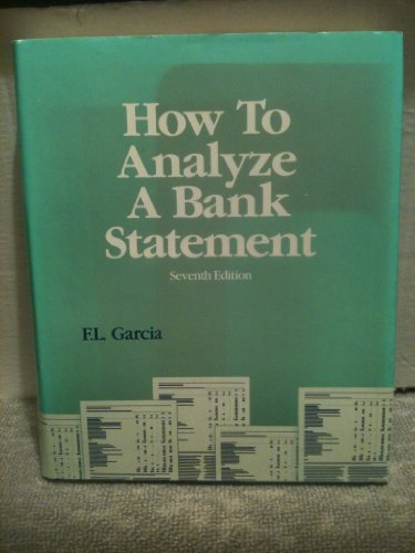 9780872670501: How to Analyze a Bank Statement