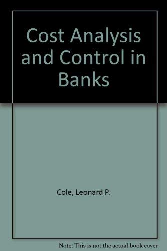 9780872670563: Cost Analysis and Control in Banks