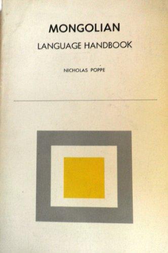 Mongolian Language Handbook (Language handbook series): Poppe, N.N.