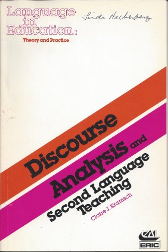 9780872811584: Discourse Analysis and Second Language Teaching (Language in Education)