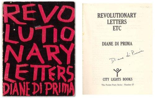Revolutionary Letters, etc. , 1966-1978 (The Pocket Poet Series): Di Prima, Diane