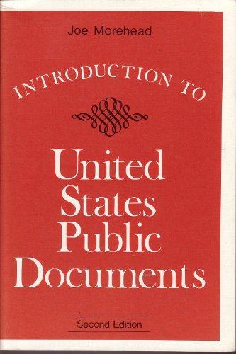 Introduction to United States Public Documents: Joe Morehead