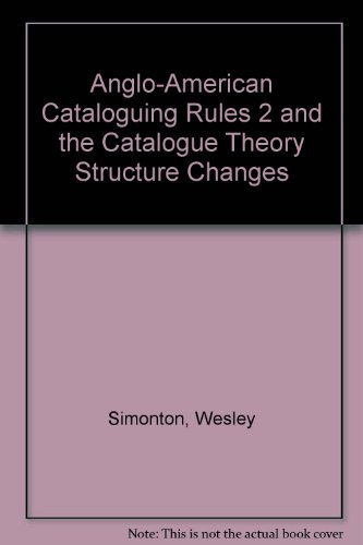 Anglo-American Cataloguing Rules 2 and the Catalogue Theory Structure Changes