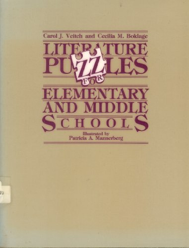 9780872873636: Literature Puzzles for Elementary and Middle Schools