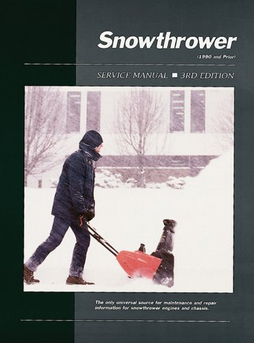 9780872884090: Snowthrower: Service Manual