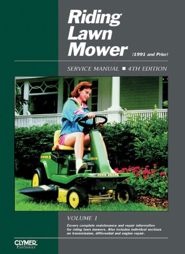 9780872885257: RIDING LAWN MOWER SERVICE MANUAL: 1 (Clymer Pro)