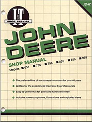 9780872885677: John Deere Shop Manual 655 755 756 855 856&955 (I & T Shop Service)