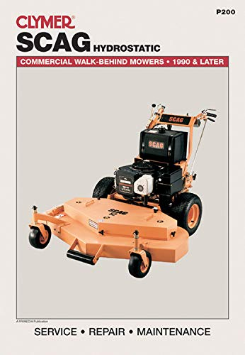 9780872888845: Clymer Scag Hydrostatic: Commercial Walk-Behind Mowers, 1990 & Later (Lawn Mower)