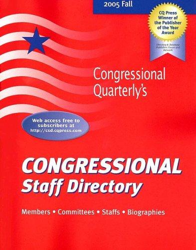 9780872892224: Congressional Staff Directory 2005/Fall (Congressional Staff Directory Fall)