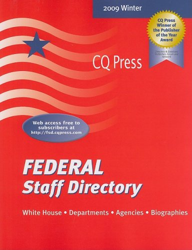 Federal Staff Directory Winter, 2009: Winter (Paperback)