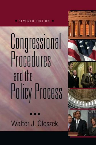 9780872893030: Congressional Procedures and the Policy Process