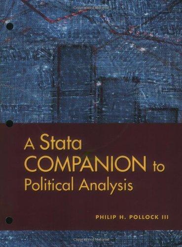 9780872893054: A Stata Companion To Political Analysis