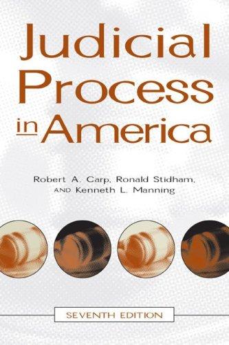 9780872893412: Judicial Process In America, 7th Edition