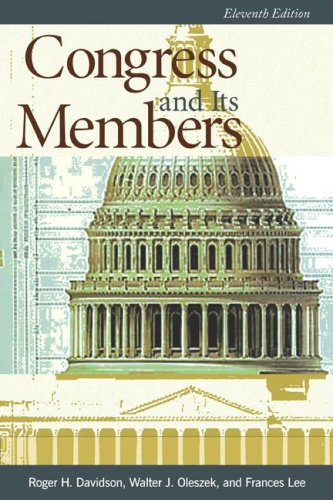 9780872893573: Congress and Its Members (Congress and Its Members)