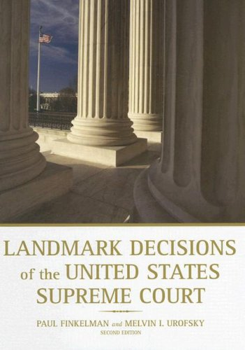 9780872894099: Landmark Decisions of the United States Supreme Court (Landmark Decisions of the Us Supreme Court)