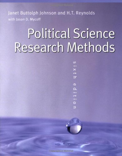 Political Science Research Methods: Reynolds, H T;