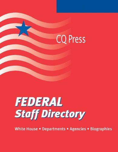 9780872894501: Federal Staff Directory Fall 2009