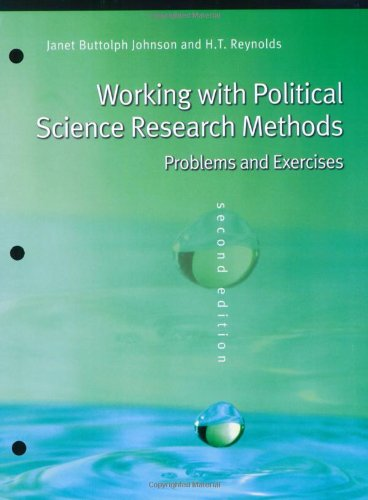 9780872894945: Working With Political Science Research Methods: Problems and Exercises