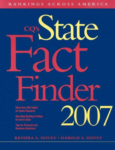 9780872894969: State Fact Finder 2007 Paperback Edition (Cq's State Fact Finder)