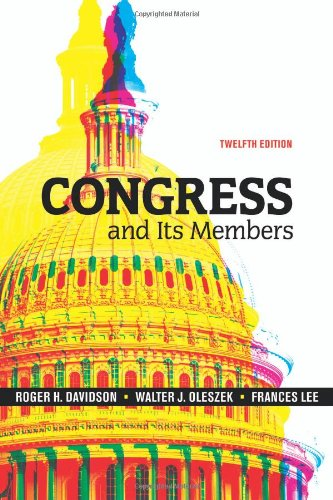 9780872899674: Congress And Its Members