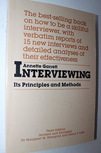 9780873041942: Interviewing: Its Principles and Methods