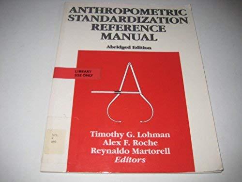 9780873223317: Anthropometric Standardization Reference Manual Abridged Edition