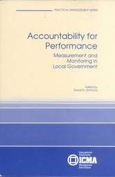 9780873261050: Accountability for Performance: Measurement and Monitoring in Local Government (Practical Management Series)